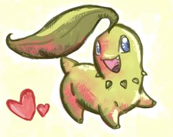 Chikorita for SilverSeal by burmalloo