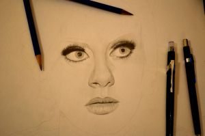 Adele WIP by morningcoffeebreak