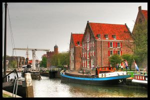 City canal v2 Zwolle - HDR by simoner