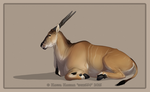Eland Antelope Chat pose by HannasArtStudio
