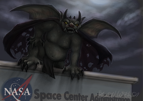 July: The NASA Gargoyle by pyro-helfier