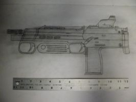 Combine MP7 concept art. by Phenixtri