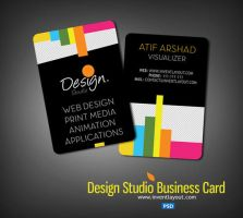 PSD  Design Studio Business Card (PSD) by atifarshad