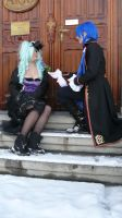 Miku and Kaito Sandplay Cosplay first pic x3 by Taamy-chan