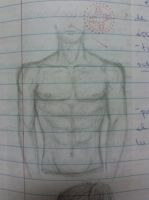 Male torso by redcladsheikah