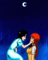 Rukia y Orihime Colored by Erian-7