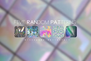 Five random Patterns v2 by Discopada