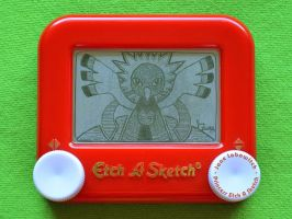 Xatu Etch A Sketch by pikajane