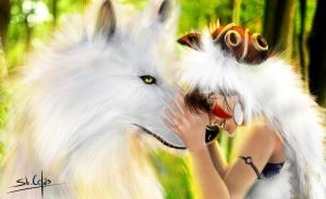Princess Mononoke by ShiryuuCelas