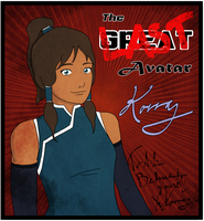 Korra Collector's Card by Zackira