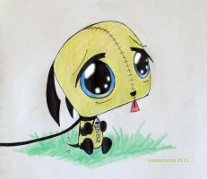 Invader Zim doggy Gir begs by snakehands