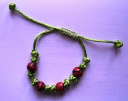 Red jasper slip knot by themagpiesnest