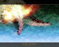 The fight of the Dragons by abbe-rocks