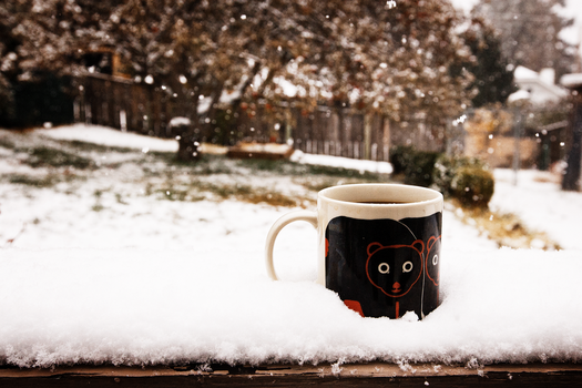 Coffee, Snow by N-Fphotography