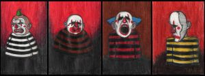 Mini Serie of Sorrowful Clowns by Pascalism