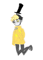 Bill Cipher the Sweater guy by koreandrawer