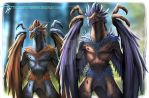 Avian aliens Concept art by Clearmirror-StillH2O