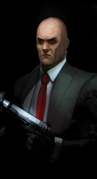 agent 47 sketch by TheFearMaster