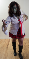 Zombie School Girl 5 by Angelic-Obscura