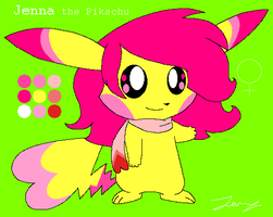Jenna the Pikachu Ref by HeartinaThePony