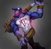 trundle by raspbearyart
