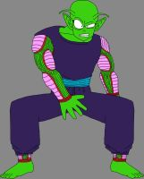 Barefoot Shocked Pure-Hearted Piccolo Jr. by DragonBallFan2012