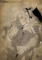 Dragon Age: Zevran and Isabela by Mistiqarts