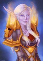 Night Elf Portrait by szienna
