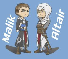 Altair and Malik by zeropiao