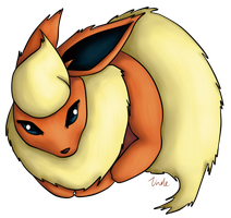 Pokeball - Flareon by UnoleSpirit