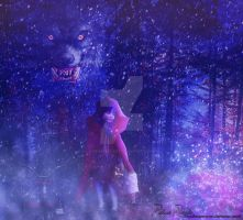 Hunger drives the wolf out of the wood by Renata-s-art
