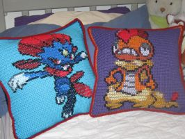 Pokemon Pillow Commission by Milayou