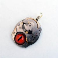 STEAMPUNK GHOST IN THE MACHINE by Create-A-Pendant