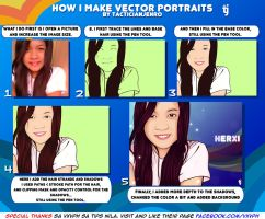How I Make Vector Portraits by yami-joey