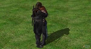Hayate and Kasumi Hugging :) by MistFighter