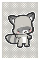Raccoon Postcard by MasumiChi