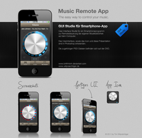 Music Remote App GUI by B4lth4s4R