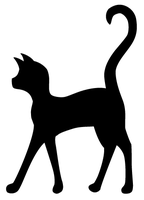 Cat silhouette by valsgalore
