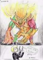 The Fire Troll by hewhowalksdeath