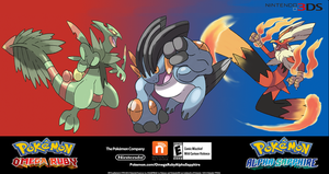 Mock Promo for Pokemon Omega Ruby Alpha Sapphire by Phatmon66