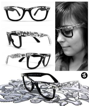 Customized Ray Ban Glasses by Bobsmade