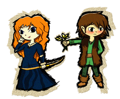 Windwaker Hiccup X Merida by Missplayer30