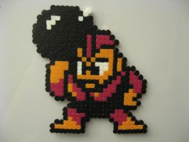 BombMan Bead Sprite MM1 by ktyure