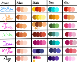 Winx Club Color Palette by JessInTheBox