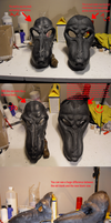 New werewolf mask WIP special: before and after by Farumir