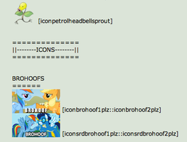 PonyPlz Icon Accounts Reference-[read description] by PetrolHeadBellsprout
