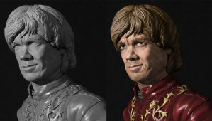 Tyrion Lannister statue w/ digital paint comp by SKBstudios