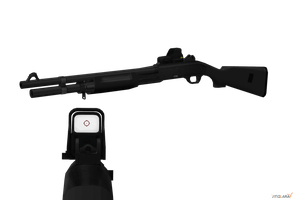 Black Benelli M1 Holo-sight by sadow1213