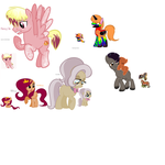 Ponies I adopted WIP by 12girlwithadream