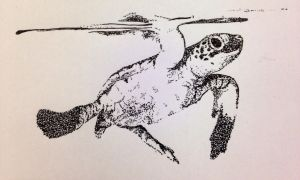 Sea Turtle Stippling by Slyphire